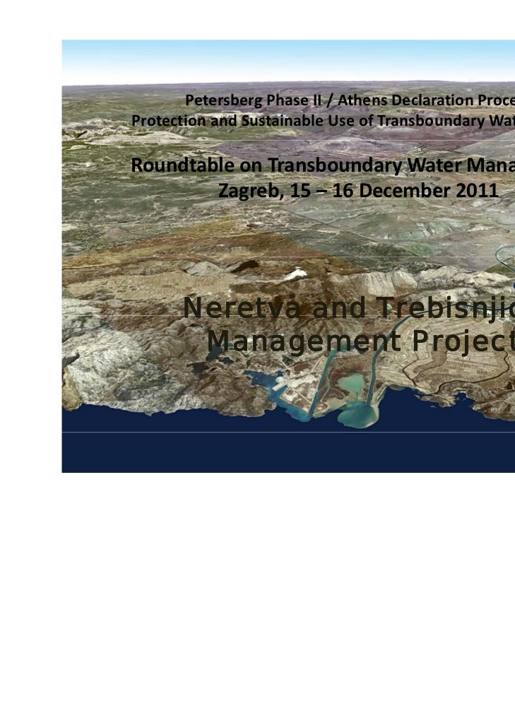 Petersberg Phase II / Athens Declaration ProcessProtection and Sustainable Use of Transboundary Waters in SEERoundtable on...