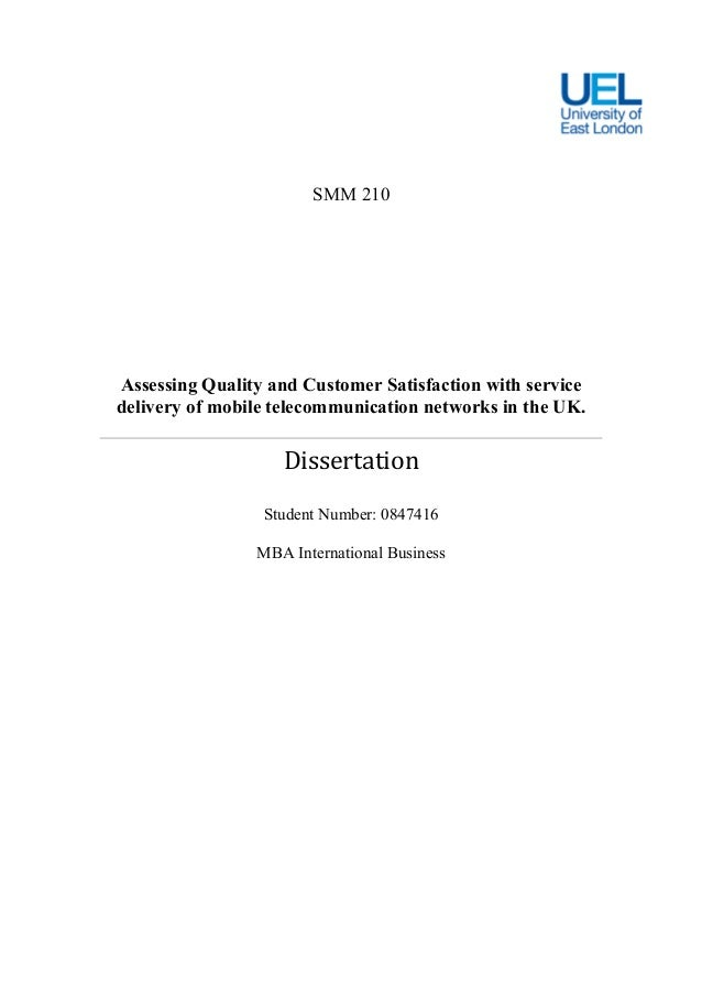Dissertation Statistical Service Quality