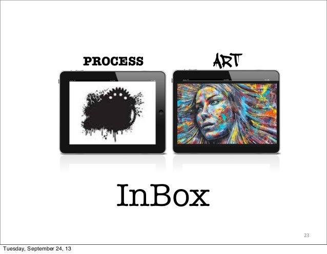 23 PROCESS ART InBox Tuesday, September 24, 13
