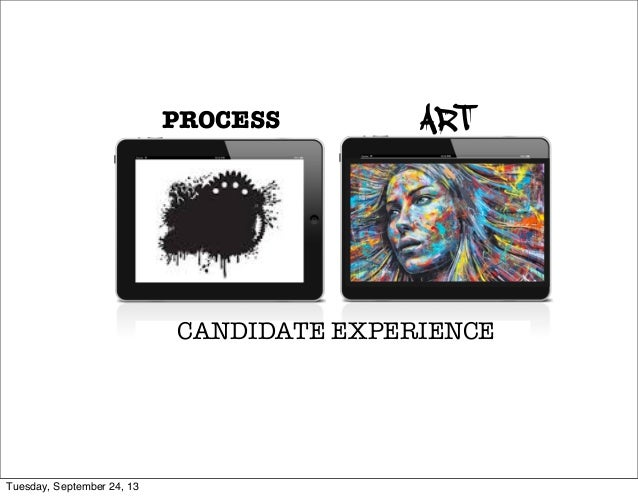 PROCESS ART CANDIDATE EXPERIENCE Tuesday, September 24, 13