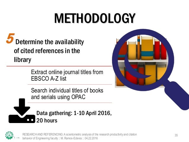 research and referencing Gather information - use a variety of sources in your research, and be aware of  the  you'll be able to correctly reference each of your sources in the final essay.