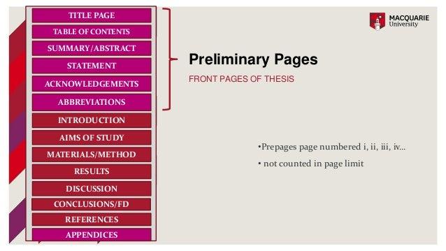 macquarie mres thesis