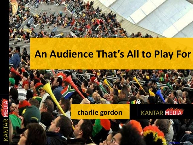 An Audience That's All to Play For Image: Jason Bagley via Flickr charlie gordon