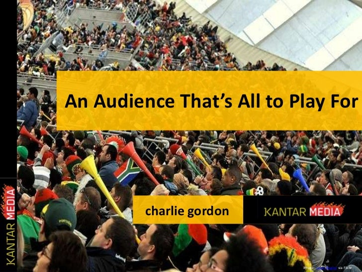 An Audience That's All to Play For<br />charlie gordon<br />Image:  Jason Bagley via Flickr<br />