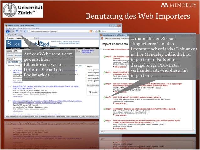 Benutzung des Web Importers                                     ... dann klicken Sie auf                                  ...