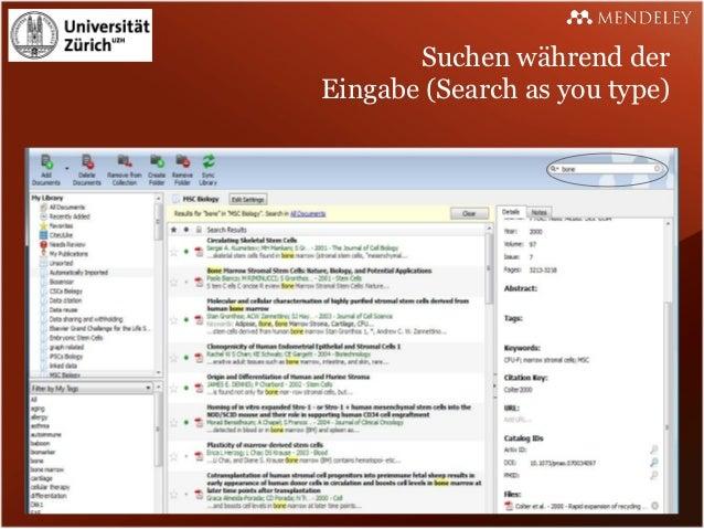 Suchen während derEingabe (Search as you type)