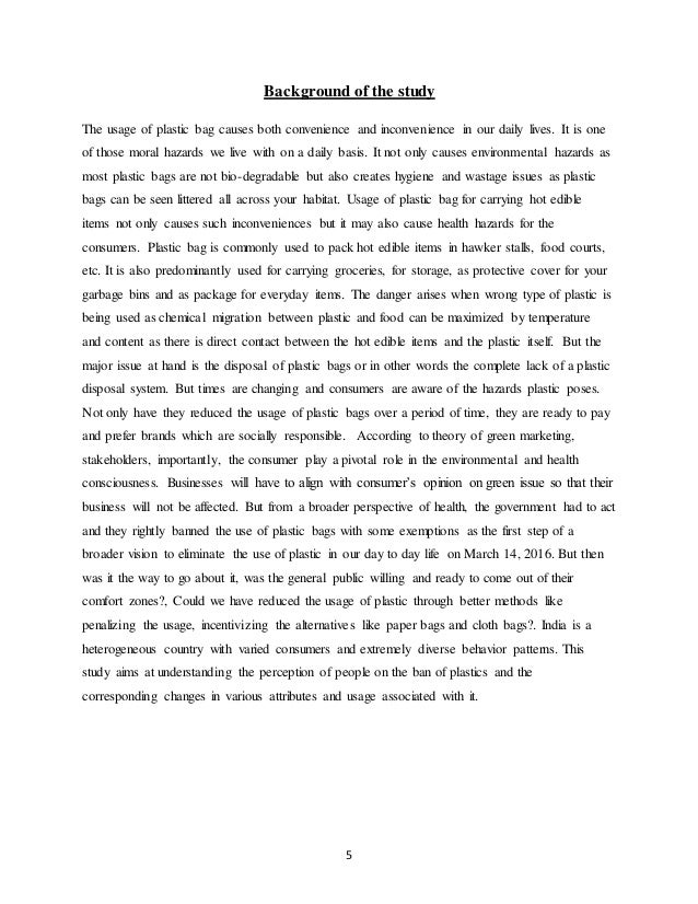 essay on hazards of polythene bags