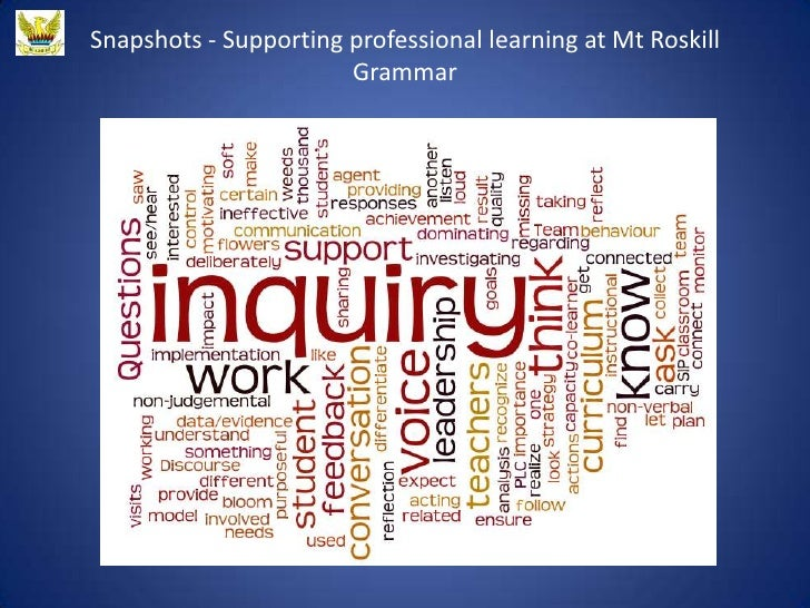 Snapshots - Supporting professional learning at Mt Roskill                       Grammar