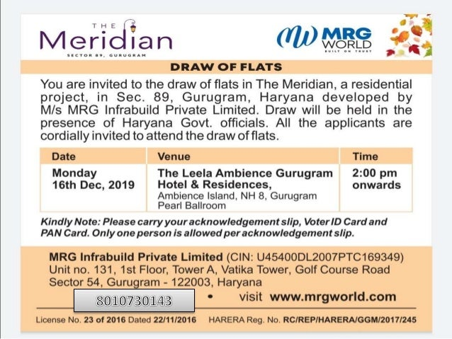 Mrg meridian draw result and draw date