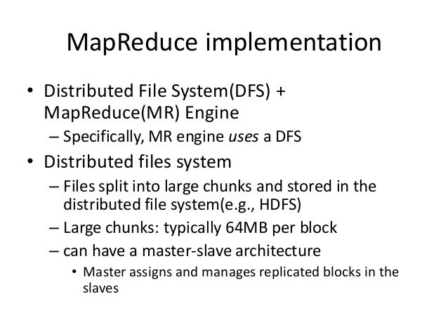 Mapreduce for distributed computing