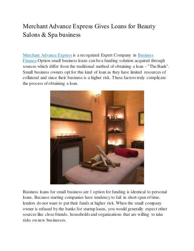 Spa Business Loans