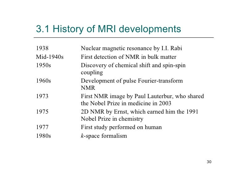 the history of mri Mri contrast agents have become an indispensable part of modern magnetic resonance imaging although mri was initially hoped to provide a means of making definitive.