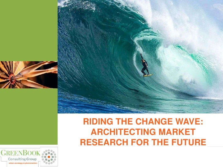 RIDING THE CHANGE WAVE:   ARCHITECTING MARKETRESEARCH FOR THE FUTURE