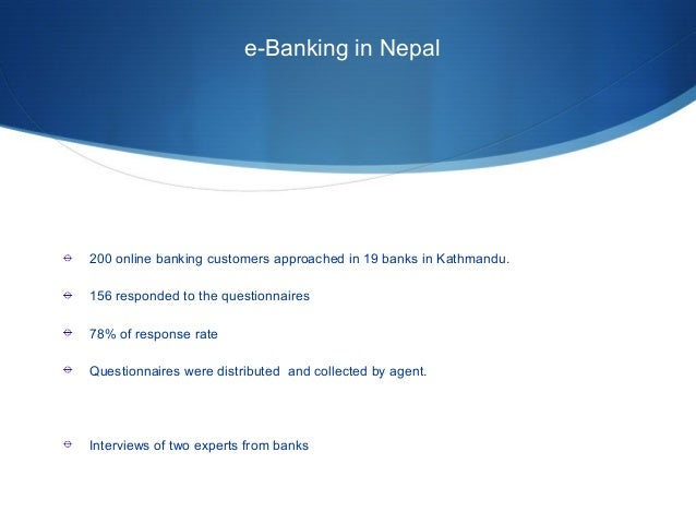 servqual questionnaire on internet banking Review of the servqual concept  the customer rating a bank would indicate his or  improve it by administering both servqual and an employee survey three or .