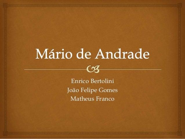Enrico Bertolini João Felipe Gomes Matheus Franco