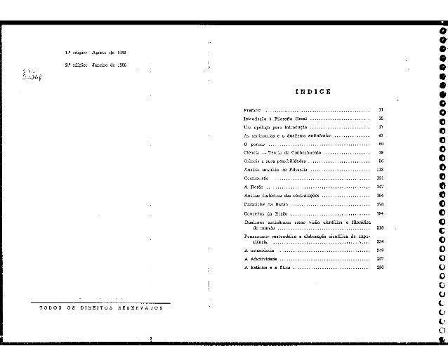 1.' edição:  Agôsto de 1952  2.' edição:  Janeiro de 1955  TODOS OS DIREITOS RESERVADOS  IN DI C E Preíácío  .  . .  . .  ...