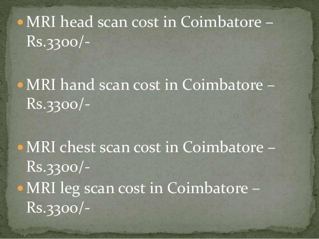 ... MRI Scans in Chennai; 2. ...