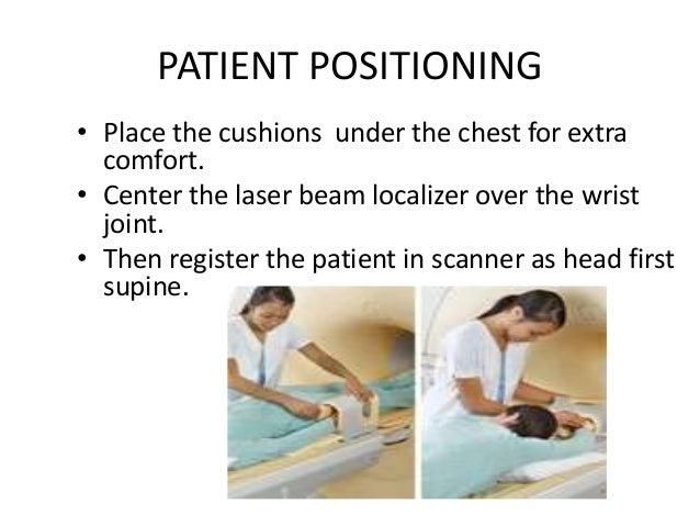 MRI WRIST SCAN PLANE AND LOCATION