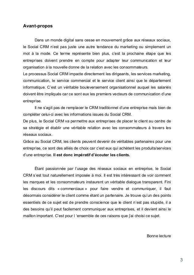Social CRM : l'impact des réseaux sociaux dans la stratégie relation client des entreprises Slide 3