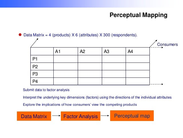 perceptual map of competing products