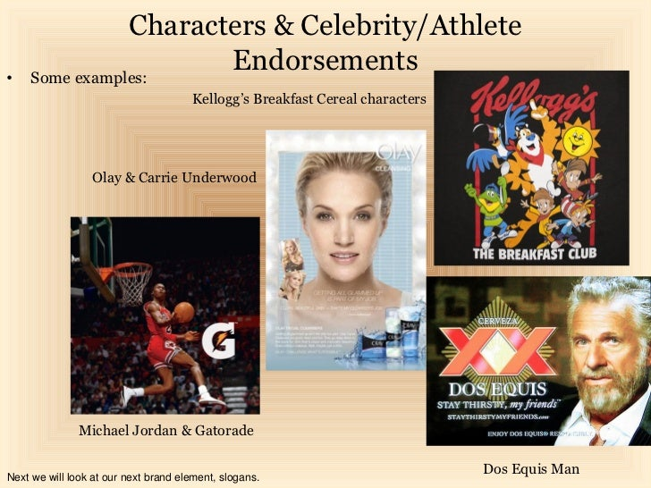 Characters & Celebrity/Athlete•    Some examples:                       Endorsements                                      ...