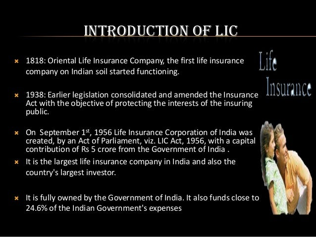 marketing strategies of lic of india 1 to know the various marketing strategies adopted by lic in india 2 to make suggestions and recommendations to improve upon the working of the lic.
