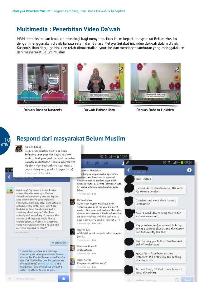 Malaysia Reverted Muslim : Program Pembangunan Usaha Da'wah & Kebajikan  Multimedia : Penerbitan Video Da'wah MRM memaksim...