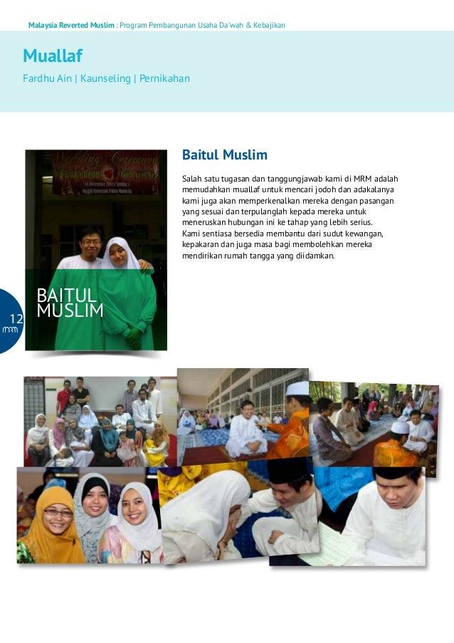 Malaysia Reverted Muslim : Program Pembangunan Usaha Da'wah & Kebajikan  Muallaf Fardhu Ain   Kaunseling   Pernikahan  Bai...