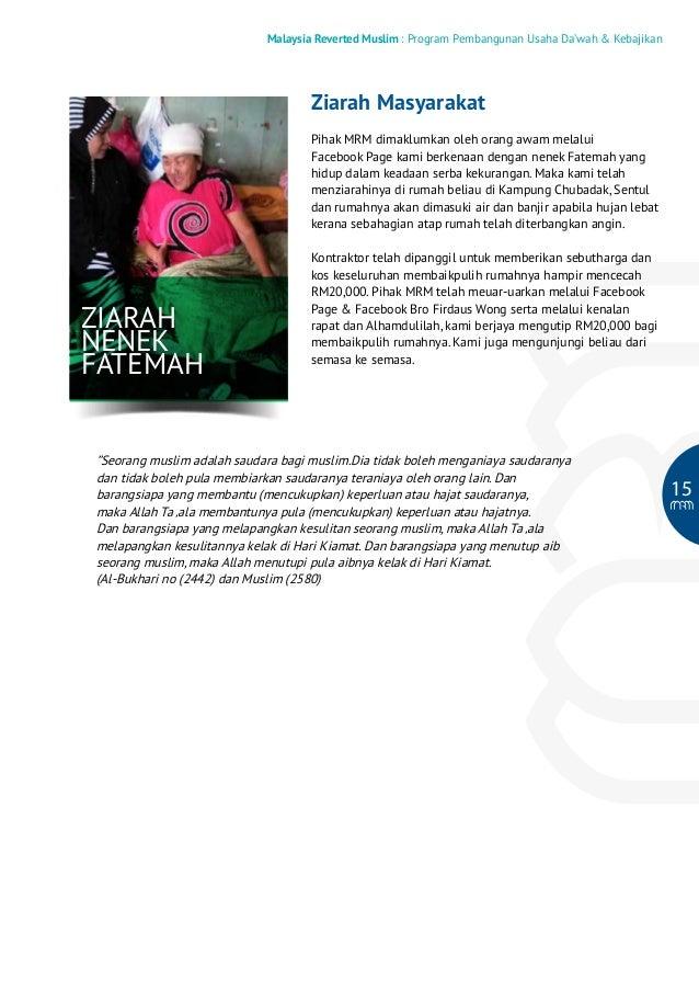 Malaysia Reverted Muslim : Program Pembangunan Usaha Da'wah & Kebajikan  Ziarah Masyarakat Pihak MRM dimaklumkan oleh oran...