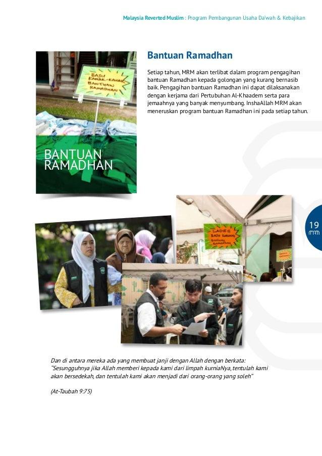 Malaysia Reverted Muslim : Program Pembangunan Usaha Da'wah & Kebajikan  Bantuan Ramadhan Setiap tahun, MRM akan terlibat ...