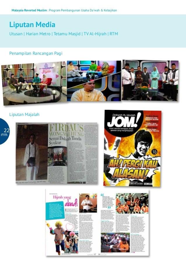 Malaysia Reverted Muslim : Program Pembangunan Usaha Da'wah & Kebajikan  Liputan Media Utusan   Harian Metro   Tetamu Masj...