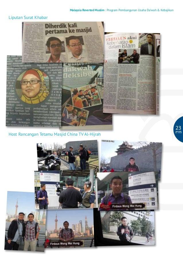 Malaysia Reverted Muslim : Program Pembangunan Usaha Da'wah & Kebajikan  Liputan Surat Khabar  23 Host Rancangan Tetamu Ma...