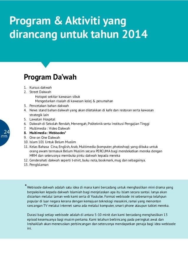 Malaysia Reverted Muslim : Program Pembangunan Usaha Da'wah & Kebajikan  Program & Aktiviti yang dirancang untuk tahun 201...