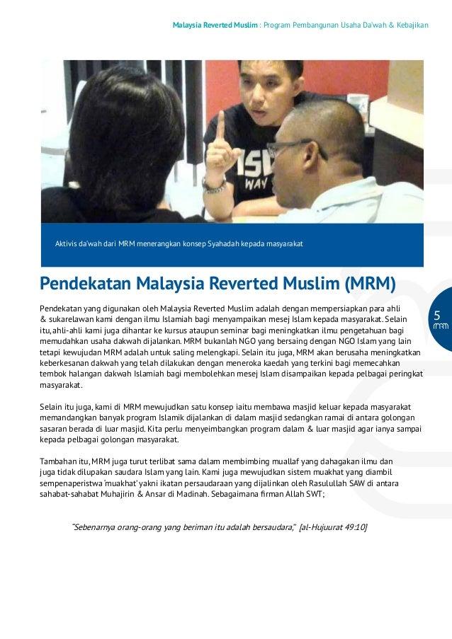 Malaysia Reverted Muslim : Program Pembangunan Usaha Da'wah & Kebajikan  Aktivis da'wah dari MRM menerangkan konsep Syahad...