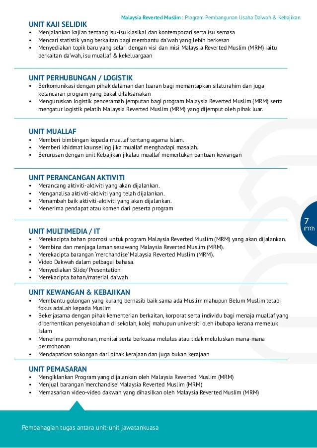 UNIT KAJI SELIDIK  Malaysia Reverted Muslim : Program Pembangunan Usaha Da'wah & Kebajikan  • Menjalankan kajian tentang ...