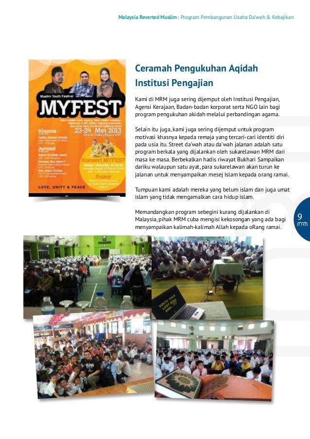Malaysia Reverted Muslim : Program Pembangunan Usaha Da'wah & Kebajikan  Ceramah Pengukuhan Aqidah Institusi Pengajian Kam...