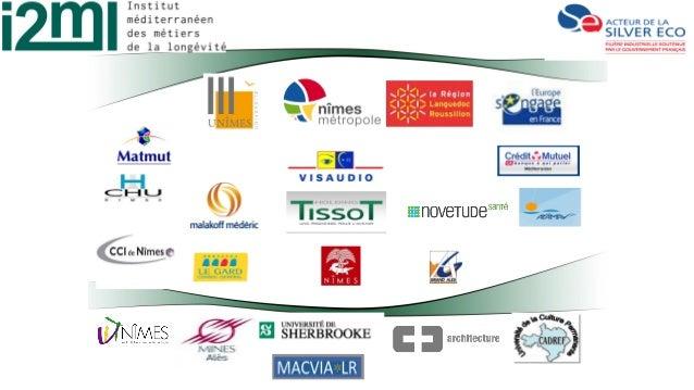 Trois axes a. Outils de test : Living lab et plateformes partenaires (IUT Nîmes, CHU Nîmes …) 2. Aide à la formation Forma...