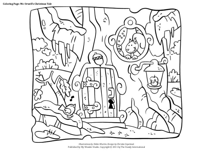 Coloring Page: Mr. Orwell's Christmas Tale                                             Published by My Wonder Studio. Copy...