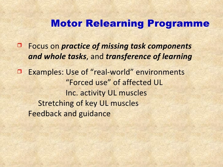 motar relearning program