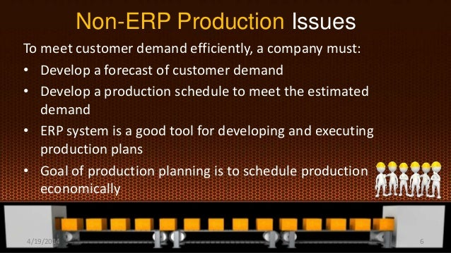 Non-ERP Production Issues To meet customer demand efficiently, a company must: • Develop a forecast of customer demand • D...