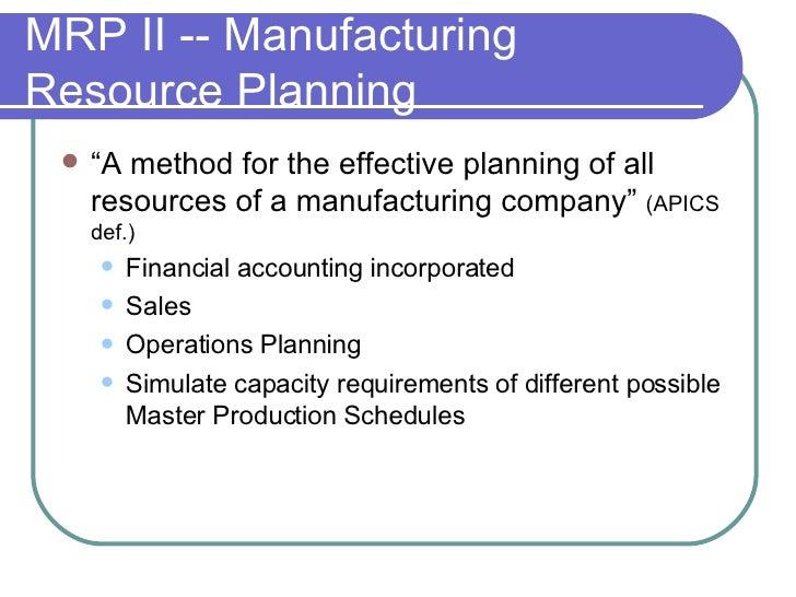 Mrp 2 Manufact Resou Plannin