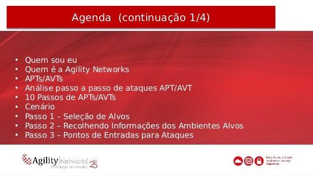 Agenda (continuação 2/4)Agenda (continuação 2/4) • Passo 4 – Plantando Malware(s) na(s) Máquina(s) Comprometida(s) • Passo...
