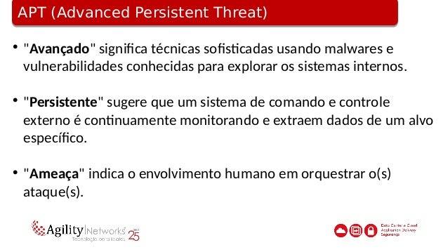"""AVT (Advanced Volatile Threat)AVT (Advanced Volatile Threat)  """"Avançado"""" significa técnicas sofisticadas usando malwares ..."""