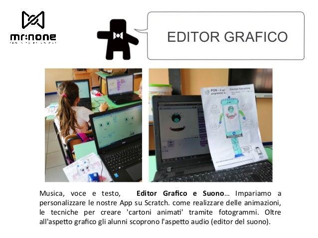EDITOR GRAFICO Musica, voce e testo, Editor Grafico e Suono… Impariamo a personalizzare le nostre App su Scratc...