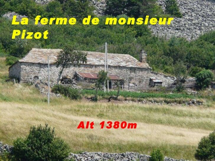 La ferme de monsieur Pizot Alt 1380m