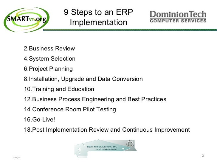 Erp Mrp Selection Qualifying Implementation