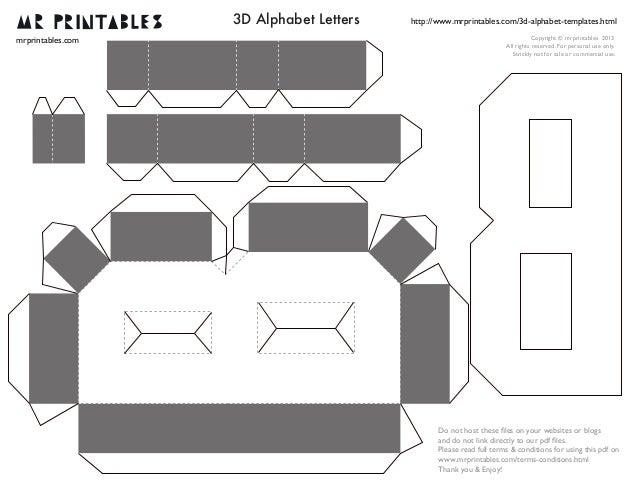 D Letter Template Hossroshanaco - 3d letters template
