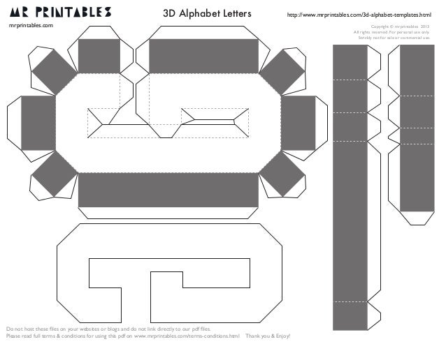 Mrprintables 3d Alphabet Templates A To M