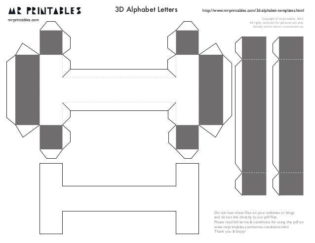 Mrprintables Dalphabettemplatesatom - 3d letters template