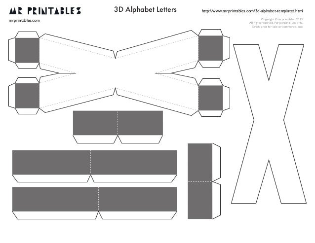 mrprintables 3d alphabet templates n to z